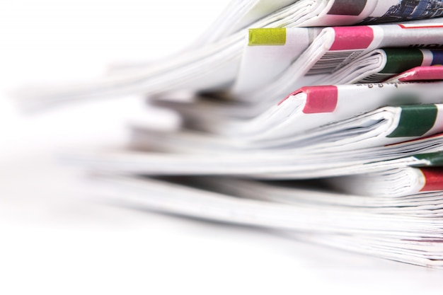 Gros plan de journal Photo Premium