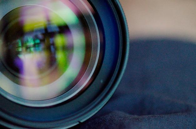 Gros plan, lentille, appareil photo numérique Photo Premium