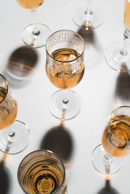 Gros Plan, Lunettes Champagne Photo gratuit