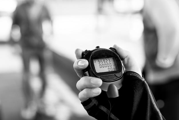 Gros Plan, Main, Tenue, Chronomètre Photo gratuit