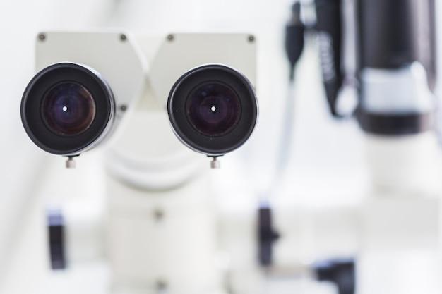 Gros plan, microscope dentaire Photo gratuit