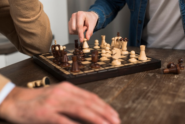 Gros Plan, Père Fils, Jouer échecs Photo gratuit