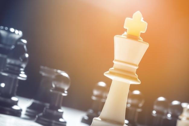 Gros plan pièces d'échecs Photo Premium