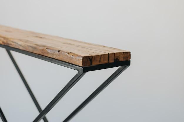 Gros Plan D'une Planche à Repasser Faite D'une Surface En Bois Photo gratuit