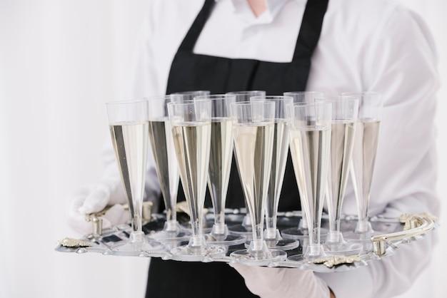Gros plan, plein, champagne Photo gratuit