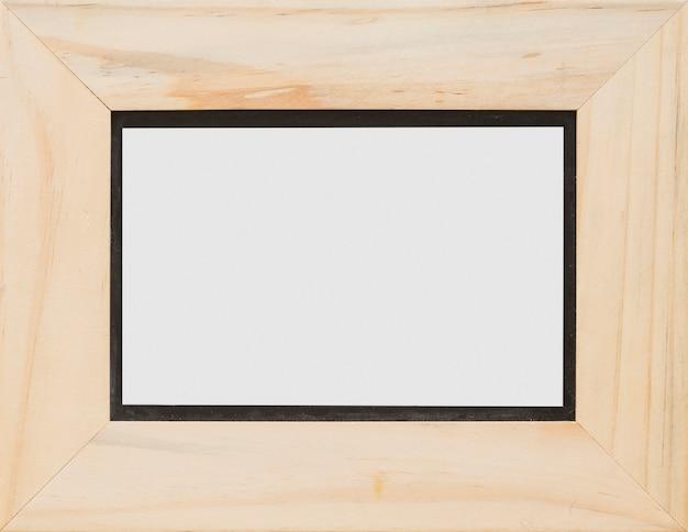 Gros plan, rectangulaire, blanc, blanc, cadre bois Photo gratuit