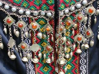 Gros plan d'une robe tribales Photo gratuit