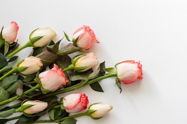 Gros Plan De Roses Romantiques Photo gratuit
