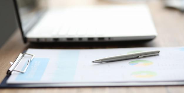 Gros Plan, Significatif, Diagrammes, Graphiques, Mensonge, Table Photo Premium