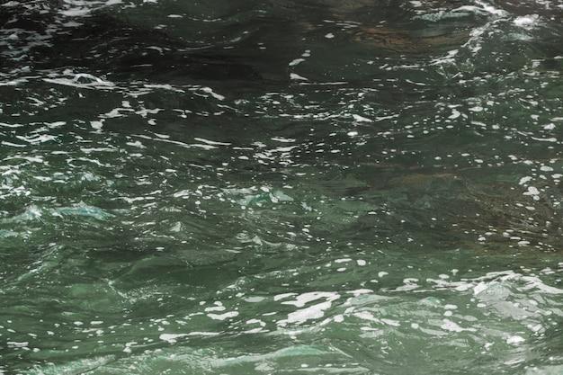 Gros plan, sombre, eau ondulée Photo gratuit