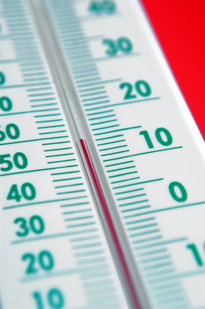 Gros plan, thermomètre Photo Premium