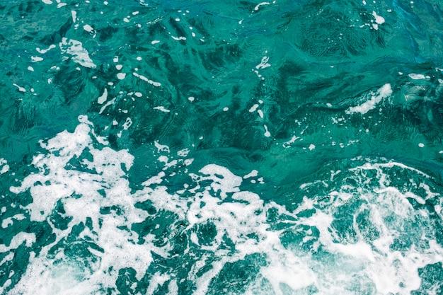 Gros plan, top shot, eau cristalline, à, vagues Photo gratuit