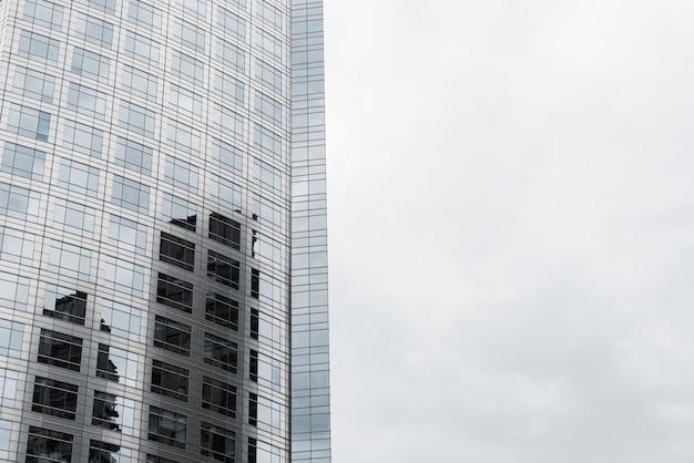 Gros plan verre conçu bâtiment Photo gratuit