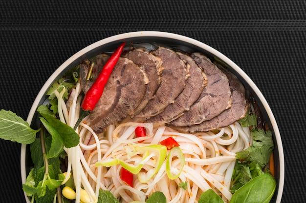 Gros plan, de, vietnamien, plat Photo gratuit