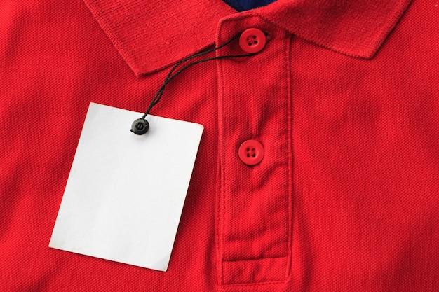 Gros plan, vue haut, de, polo homme Photo Premium