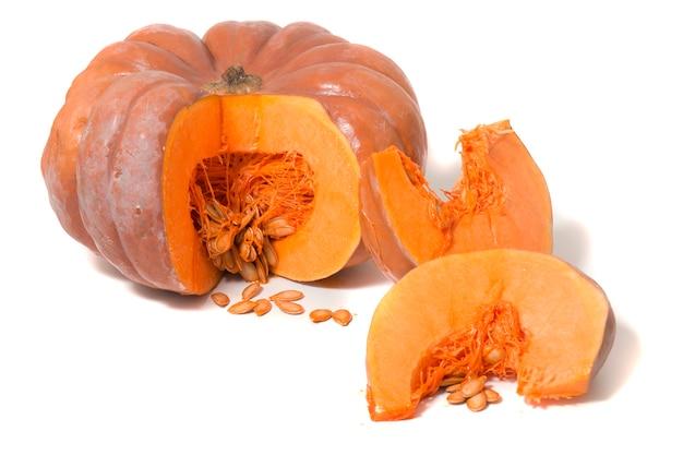 Grosse citrouille orange Photo Premium