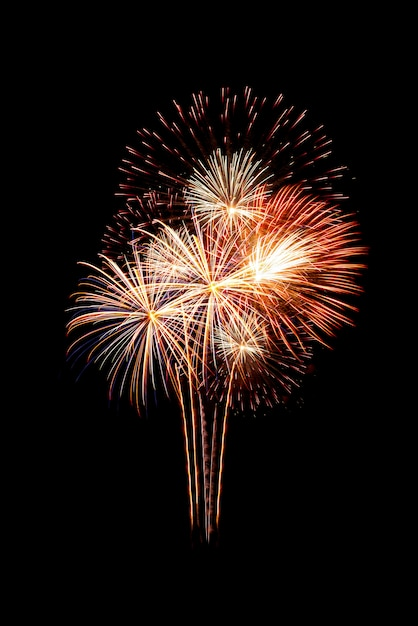 Groupe de beaux feux d'artifice mousseux colorés Photo Premium