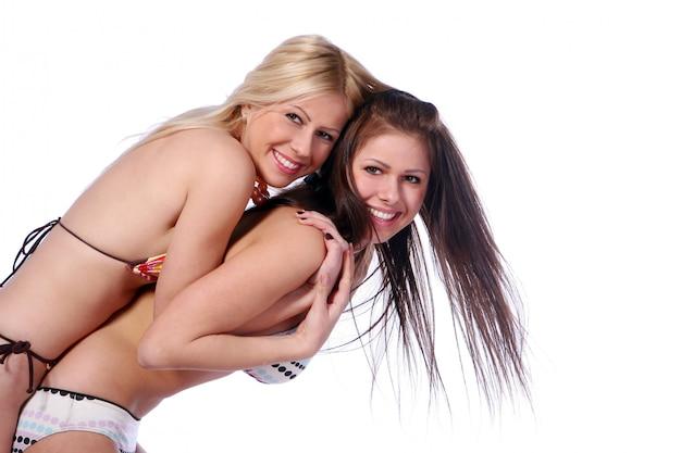 Groupe De Deux Belles Soeurs Photo gratuit