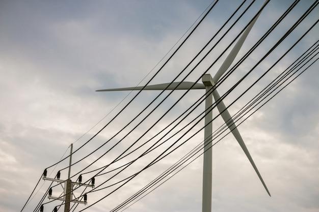 Groupe électrogène d'un parc éolien pour la production d'énergie verte renouvelable Photo Premium