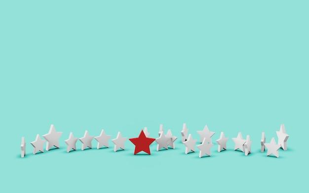 Groupe d'étoiles isolé sur bleu Photo Premium