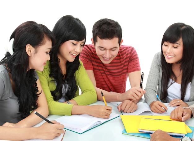 Groupe D'étudiants Photo Premium