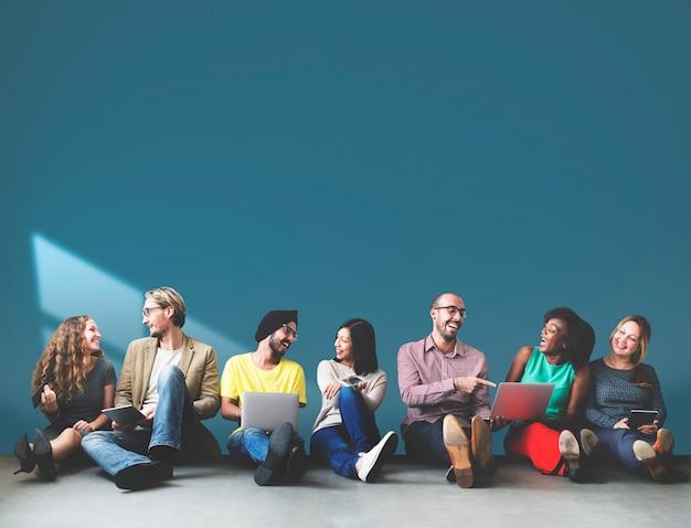 Groupe de gens d'affaires Photo Premium