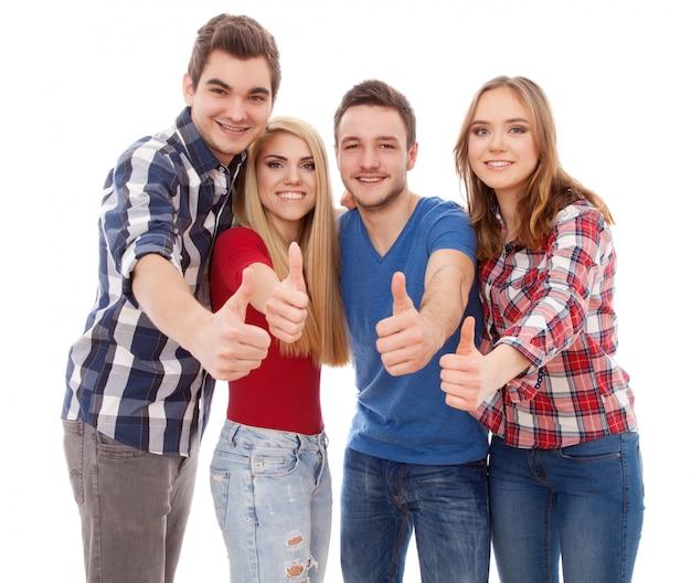 Groupe de jeunes heureux Photo Premium