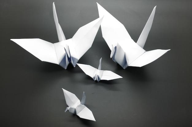 Grue Origami Blanc, Oiseau, Papier Photo Premium