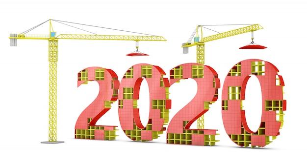 Grues à tour construites en 2020 Photo Premium
