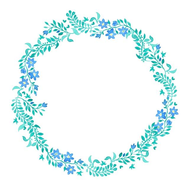 La guirlande de fleurs sauvages d'été. Photo Premium