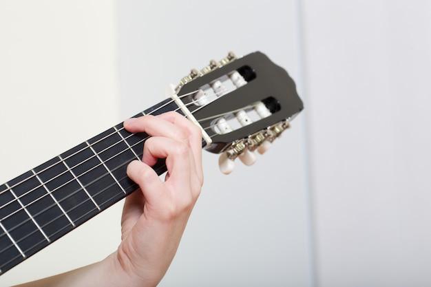 Guitare acoustique - gros plan Photo Premium