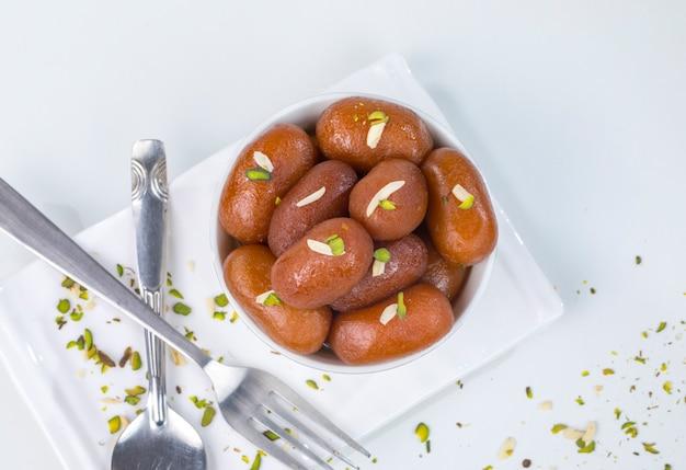Gulab jamun sweet Photo Premium