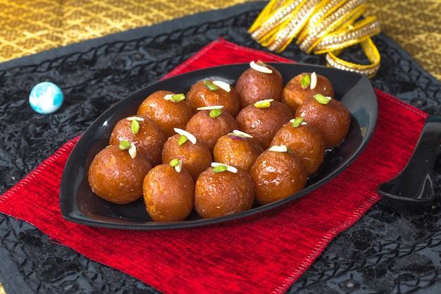Gulab jamun Photo Premium
