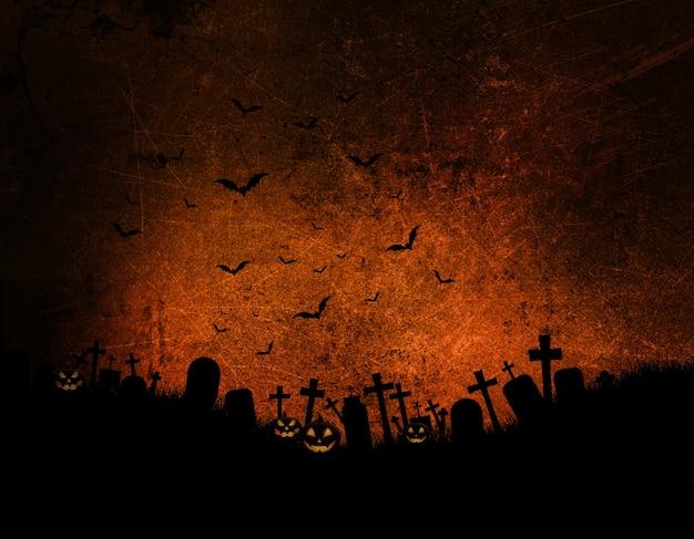 Halloween Fond Avec Effet Grunge Sombre Photo gratuit