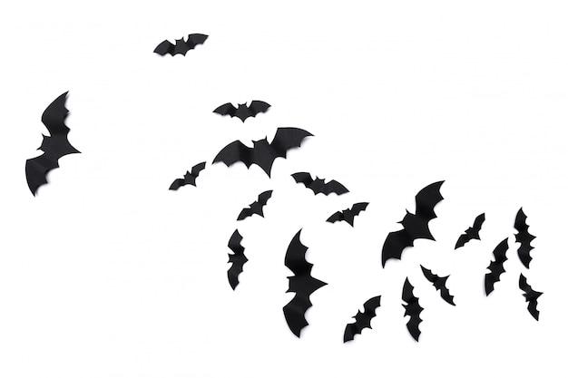 Halloween et papier de décoration bat des ailes Photo Premium