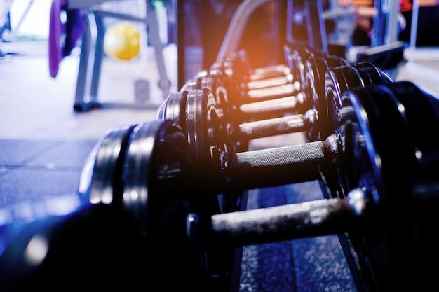 Haltères, appareils de musculation et accessoires, sport, santé Photo Premium