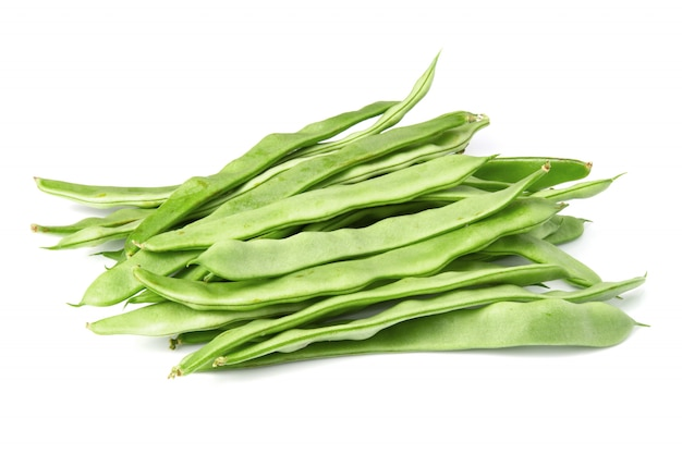 Haricots verts plats Photo Premium