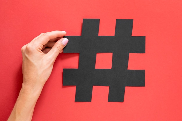 Hashtag Sharp Symbol For Social Media Photo Premium