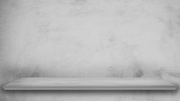 Haut de sol en béton vide modèle carré gris isolé sur la texture de la peinture grise. Photo Premium