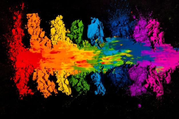 Haute vue angle, coloré, coloré, coloré, holi, holi Photo gratuit