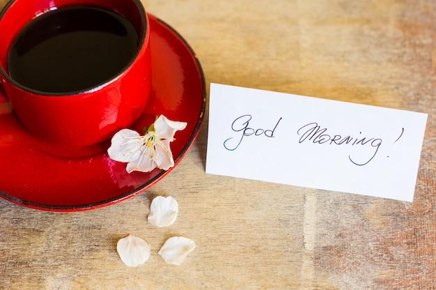 Heure du café et printemps Photo Premium