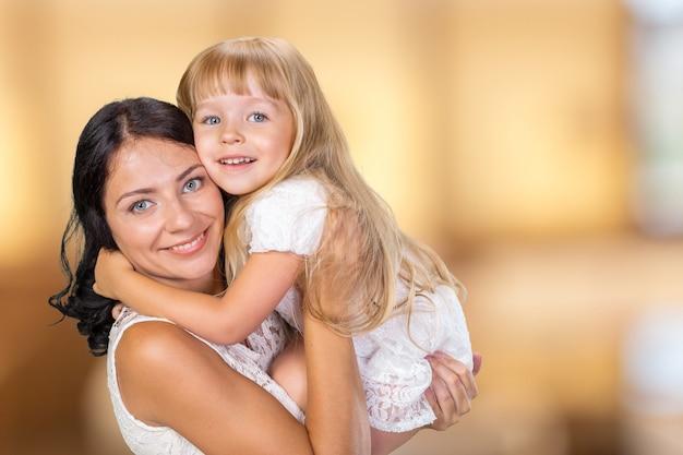 Heureuse mère et fille Photo Premium