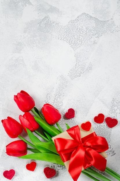 Heureux fond de la saint-valentin. carte de voeux Photo Premium