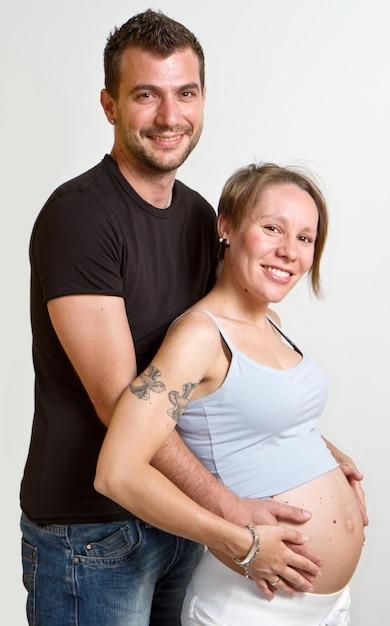 Heureux père et mère d'être Photo Premium