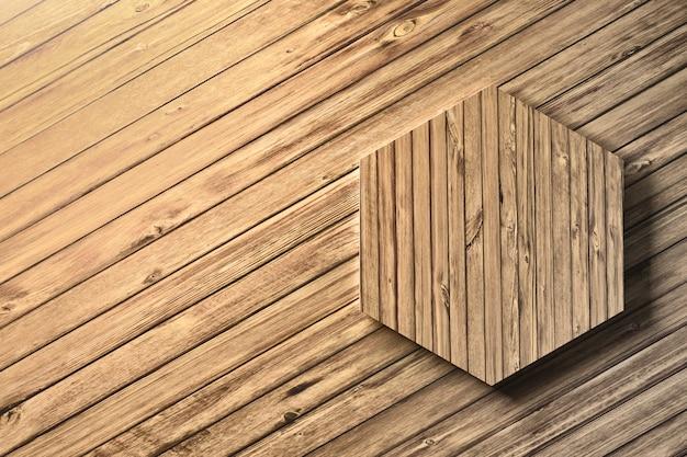 Hexagone en bois Photo Premium
