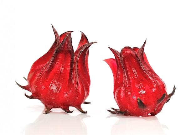 Hibiscus Sabdariffa Ou Fruits De La Roselle Photo Premium