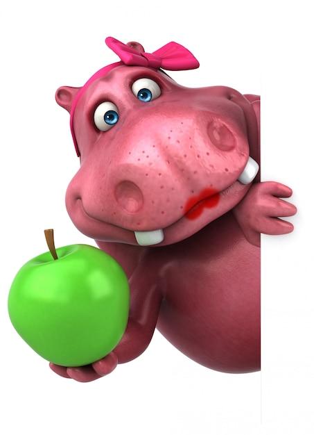 Hippo Rose Avec Pomme Photo Premium