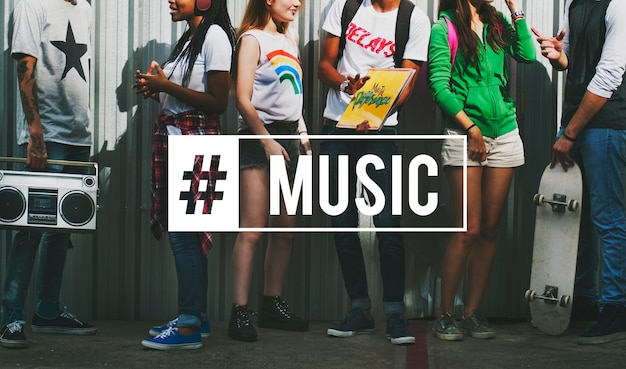 Hipster musique hipster freedom positivity Photo gratuit