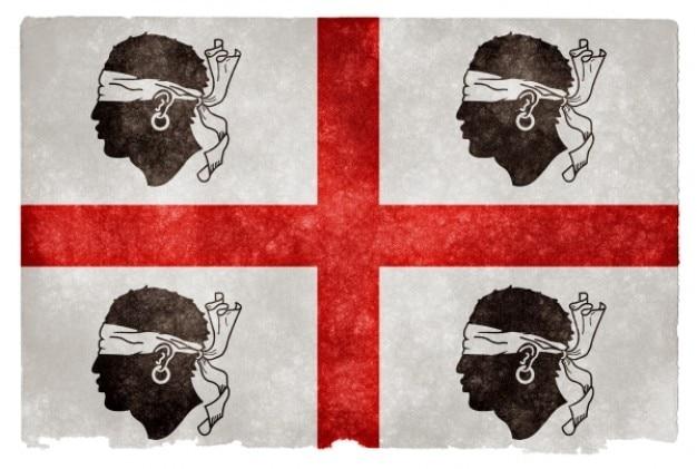 Historique sardaigne grunge flag Photo gratuit