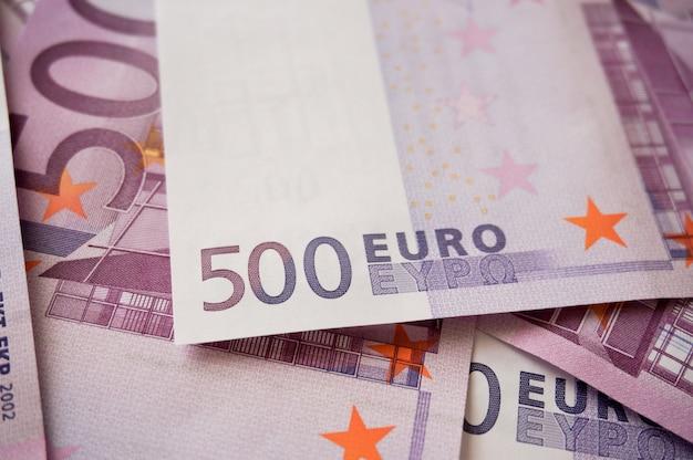 Hologramme de billets de cinq cents euros Photo Premium